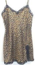 Victoria's Secret Animal Print RASO PIZZO chemise Lingerie Negligee piccole