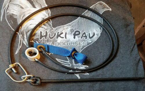 2swivl Gamefowl String Walk Rubber Tie Cord set 12pcs w//HEAVY DUTY stake hitch