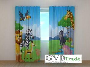 fotogardinen f r kinderzimmer fotovorhang vorhang gardinen. Black Bedroom Furniture Sets. Home Design Ideas