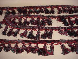 13 1 8y American Trim Mtsf060 01 B Black Rouge Tassel Fringe