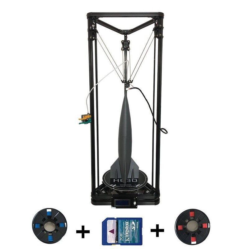 K280 Delta 3D Printer DIY Kit 280*280*600mm, Auto Level, Single Extruder,Heatbed