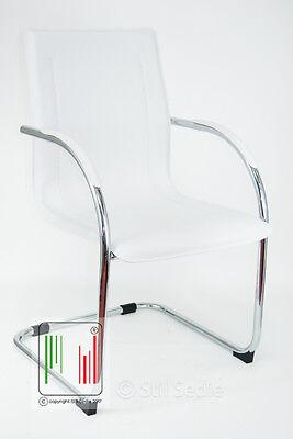 Sedia ufficio ergonomica attesa slitta finto cuoio Milano ...