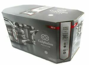 Calphalon-Premier-6-Pc-Stainless-Steel-Space-Saving-Cookware-Set-New-In-Box