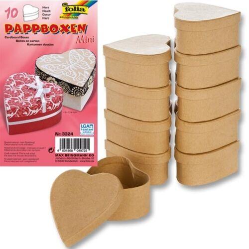 Bastelset 10 Herz-Kartons,Geschenkverpackung Valentinstag//Liebesgeschenk basteln