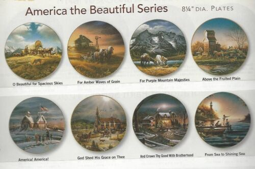 AMERICA BEAUTIFUL PLATESSET OF 8 by Terry Redlin