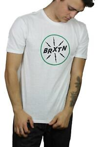 Brixton-Mens-Adapter-II-Premium-Short-Sleeve-T-Shirt-Off-White-M-New