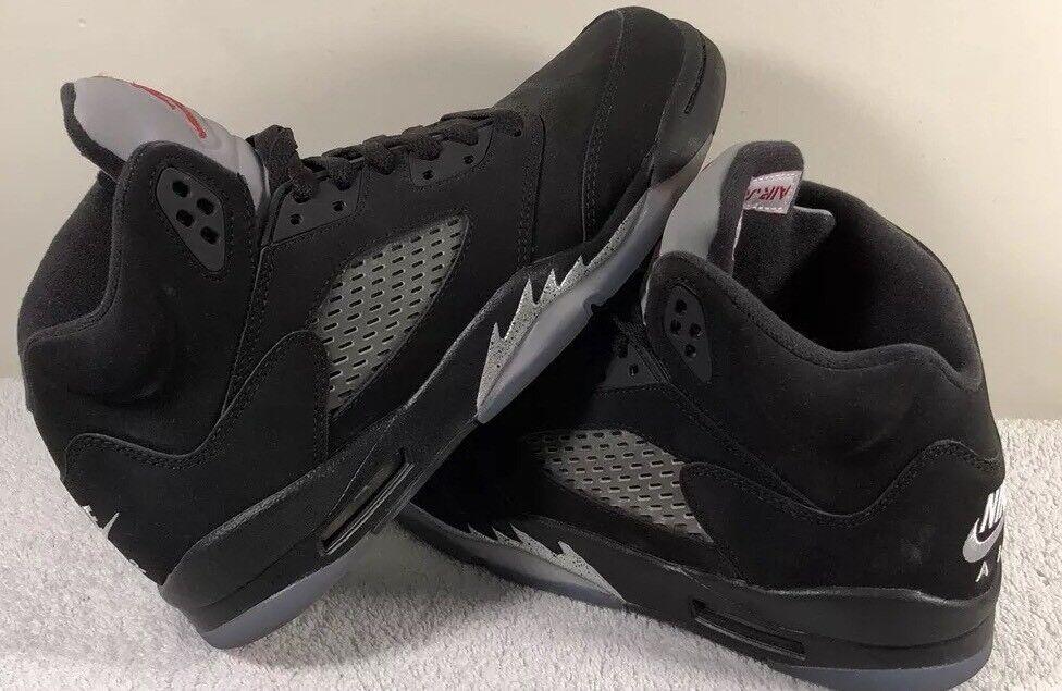 Air Jordan 5 Negro Metallic Plata precio 845035-003 2018 reducción de precio Plata ac8f7a