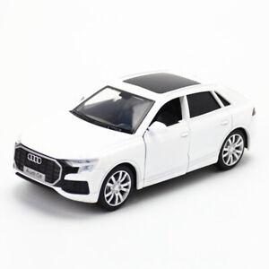 1:36 2019 Audi Q8 Modelo De Carro Suv Liga De Brinquedo Em Metal Fundido puxe para trás Presente Infantil Branco