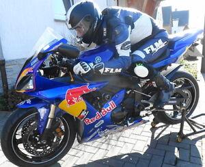 FLM-Race-Carbon-Lederkombi-Einteiler-Gr-46-Rennkombi-Top-pas-R1-GSX-R-o-ae