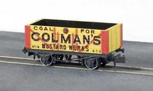 7-plank-Colemans-Mustard-Works-private-N-gauge-wagon-Peco-NR-P412-free-post
