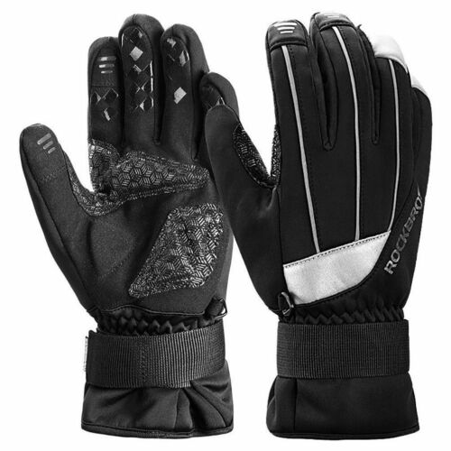 RockBros Winter Windproof Skiing Cycling Outdoor Full Finger Touch Screen Gloves