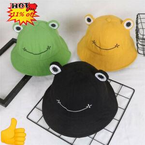 Flat Top Breathable Bucket Hats Unisex Frogs in Glasses Bucket Hat Summer Fishermans Hat