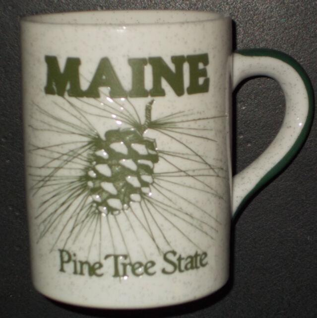 Maine Coffee Mug Tea Cup Pine Tree State