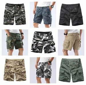 Mens-Army-Military-Paratrooper-Shorts-Outdoor-Work-Camping-Fishing-Cargo-Shorts