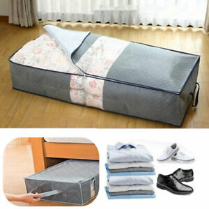 UNDERBED STORAGE SOLUTION CLOTHES COVER CHEST TOY LAUNDRY WARDROBE BAG WITH ZIP
