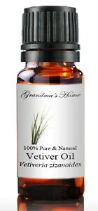 Vetiver Essential Oil - 5 mL - 100% Pure and Natural - Free Shipping - US Seller
