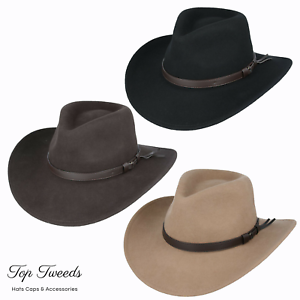 Cowboy Hat 100% Wool Crushable Stetson