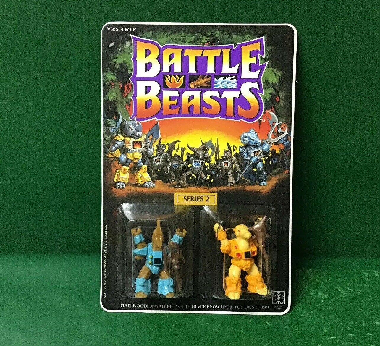1987  Battle Beast Series2 Slasher Seahorse&Hunchback Camel UNPUNCHED  By Hasbro