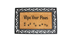 Jm Home Fashions 18 Inch X 30 Inch Wipe Your Paws Door Mat