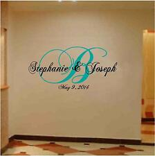Monogram Wedding Wall / Floor  Decoration with Date