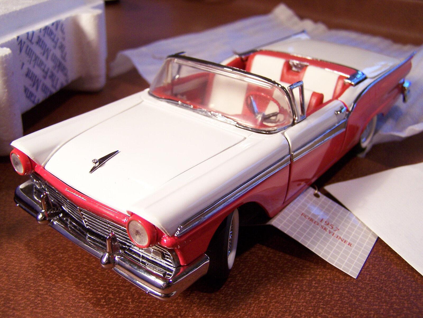 Franklin mint 1957 ford fairlane roll - top - boxen und papierkram