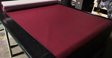 """5 YARD ROLL MAROON FAUX LEATHER AUTO UPHOLSTERY FABRIC VINYL 54""""WIDE PLEATHER"""