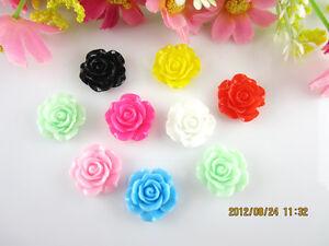 NEW-20pcs-Resin-Rose-Flower-flatback-Appliques-For-DIY-phone-craft-U-Pick-Color