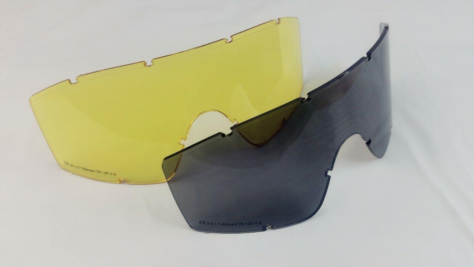 UV2 Extra Lenses T-Element Ballistic /& Multi-Use Eyewear GogglesAdjust.