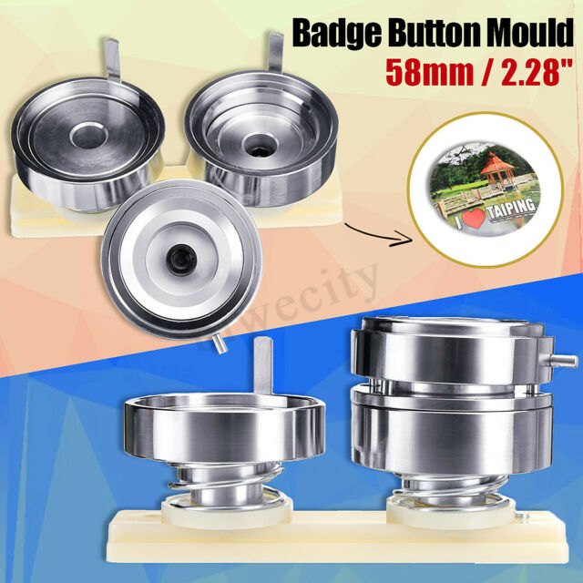 58mm 2.28'' Badge Pin Making Mould Button Maker Punch Press Machine Metal DIY