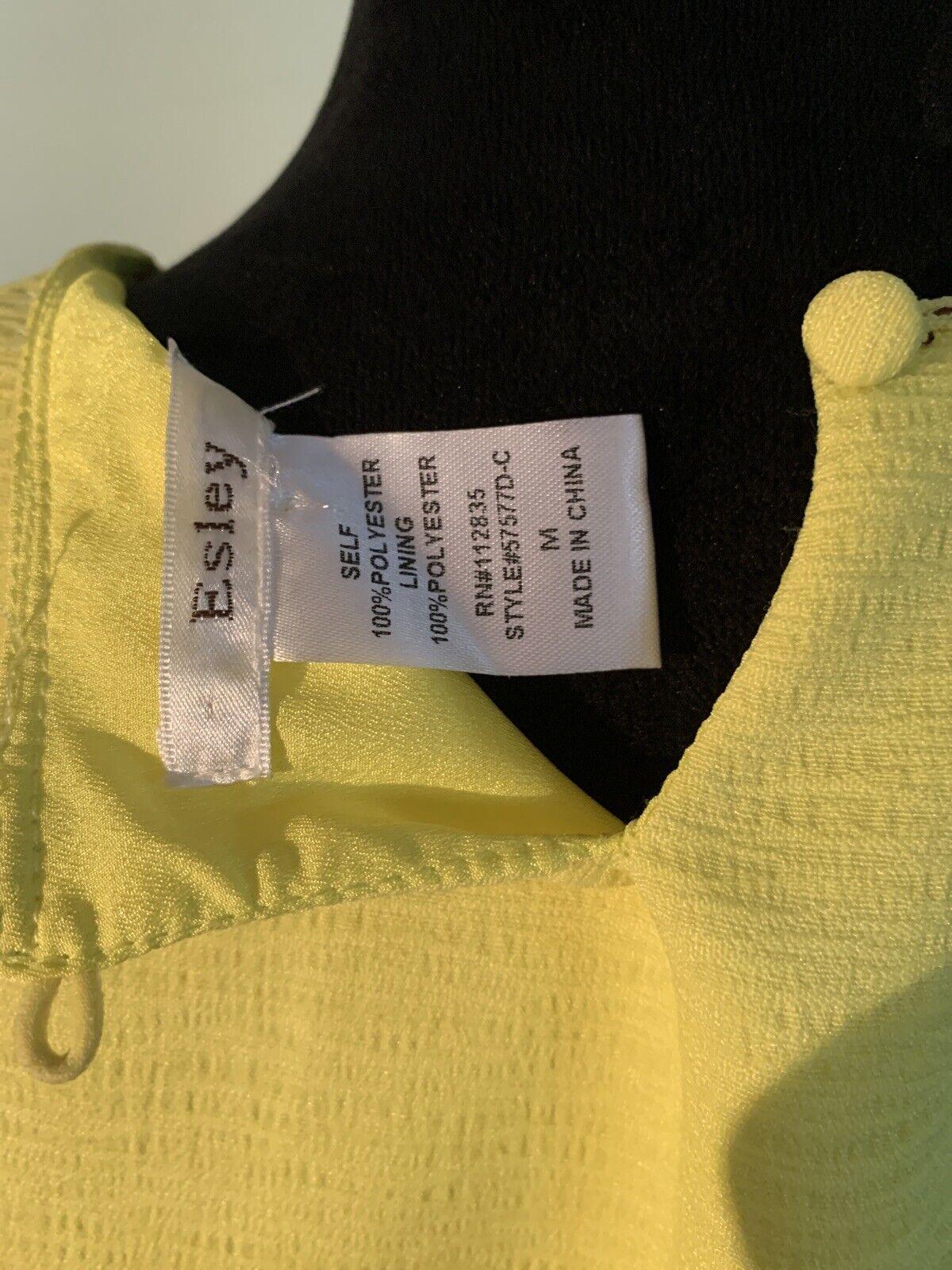 Esley bright yellow cold shoulder dress size medi… - image 7