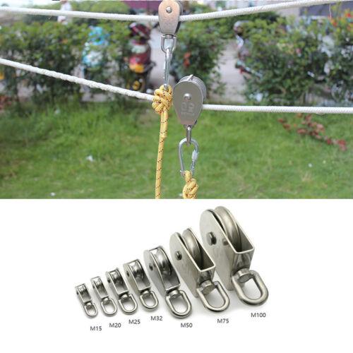 Heavy Duty Steel Single Wheel Swivel Lifting Rope Pulley Block M15 M20 M25 M32