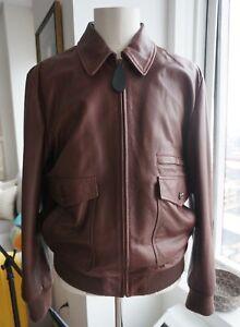 5c20151d3 Details about Men's Authentic Maison Margiela Leather Bomber Jacket Size 56  - XXL