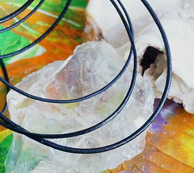 Lederband  Ziege  1 Meter  schwarz  1,5 mm dick  pflanzlich gegerbt  Ziegenleder