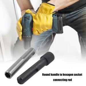 2pcs 1/4 Converter Socket Nut Hex Shank Screwdriver Holder Hammer Drilling Tool