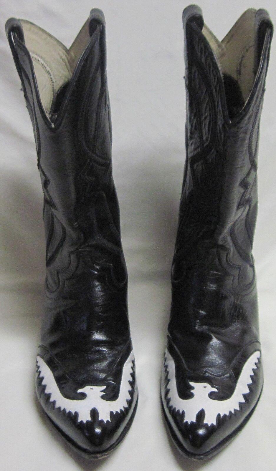 Campeón de hombre talla personalizado hecho botas de vaquero 9D Vintage estilo occidental