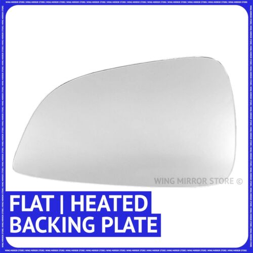 plate Left hand side for Vauxhall Astra H 09-10 Flat heated wing mirror glass