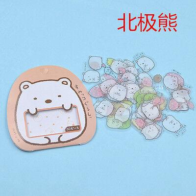 50X Cute Japanese Sumikko Gurashi Sticker Flakes Bag Sack Anlimals Scrapbooking