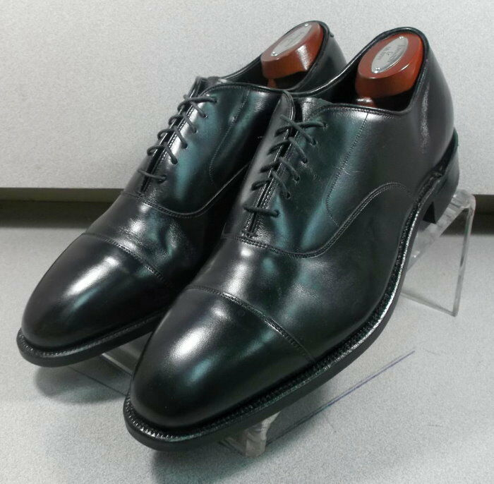 244971 PFCR 50 Chaussures Hommes Taille 9 m couronne noire made in USA Johnston Murphy