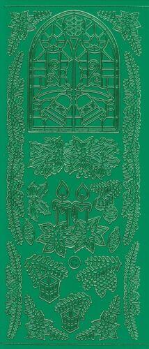 Starform Outline Stickers N° 852 Noël Decoration Auto-collants Peel offs