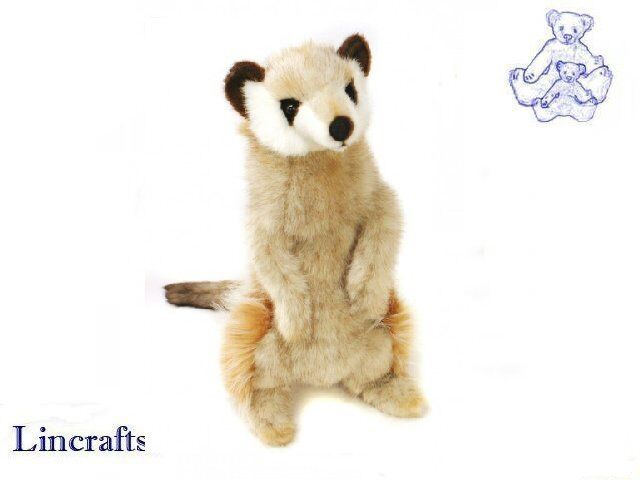 Hansa Standing Meerkat 4576 Plush Plush Plush Soft Toy Sold by Lincrafts Established 1993 8773cf