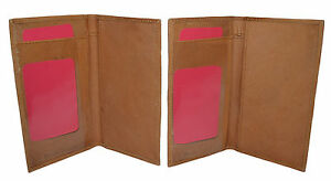 CHECKBOOK-COVERS-PLAIN-SET-OF-2-ALL-TAN-LEATHER-GIFT-IDEA-NEW-GENUINE-LEATHER