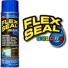 Flex Seal Blue 14 oz Leaks Cracks Holes Car Paint Color Rubber Spray Coating Can