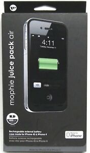 Mophie-Juice-Pack-Air-for-Apple-iPhone-4-4S-Charger-Battery-Case-Black-New-OEM