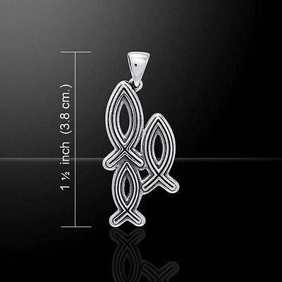 Chrétien Poisson Ichthus .925 Sterling Silver Bracelet par Peter Stone