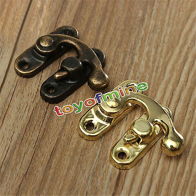 10pc Ox Horn Hardware Fitting Lock Hasp Buckle Latch With Screws For Jewelry Box