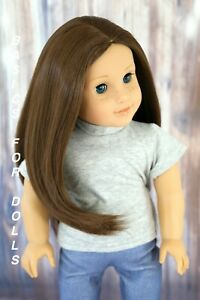 "American Girl /""Black/""  Straight Replacement Wig for 18/'/' Dolls Heat resistant"