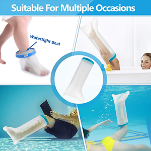 Details About Shower Cast Protector Water Bag Covers For Broken Surgery Leg Foot Ankle