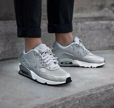 NIKE Air Max 90 SE Leather Silver Pack US 5 / EUR 37.5 (rrp:129€) NEW