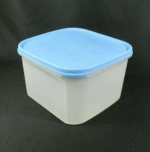 Tupperware Modular Mates Container Clear 1620-3 Blue Lid 1623-5 11 Cups