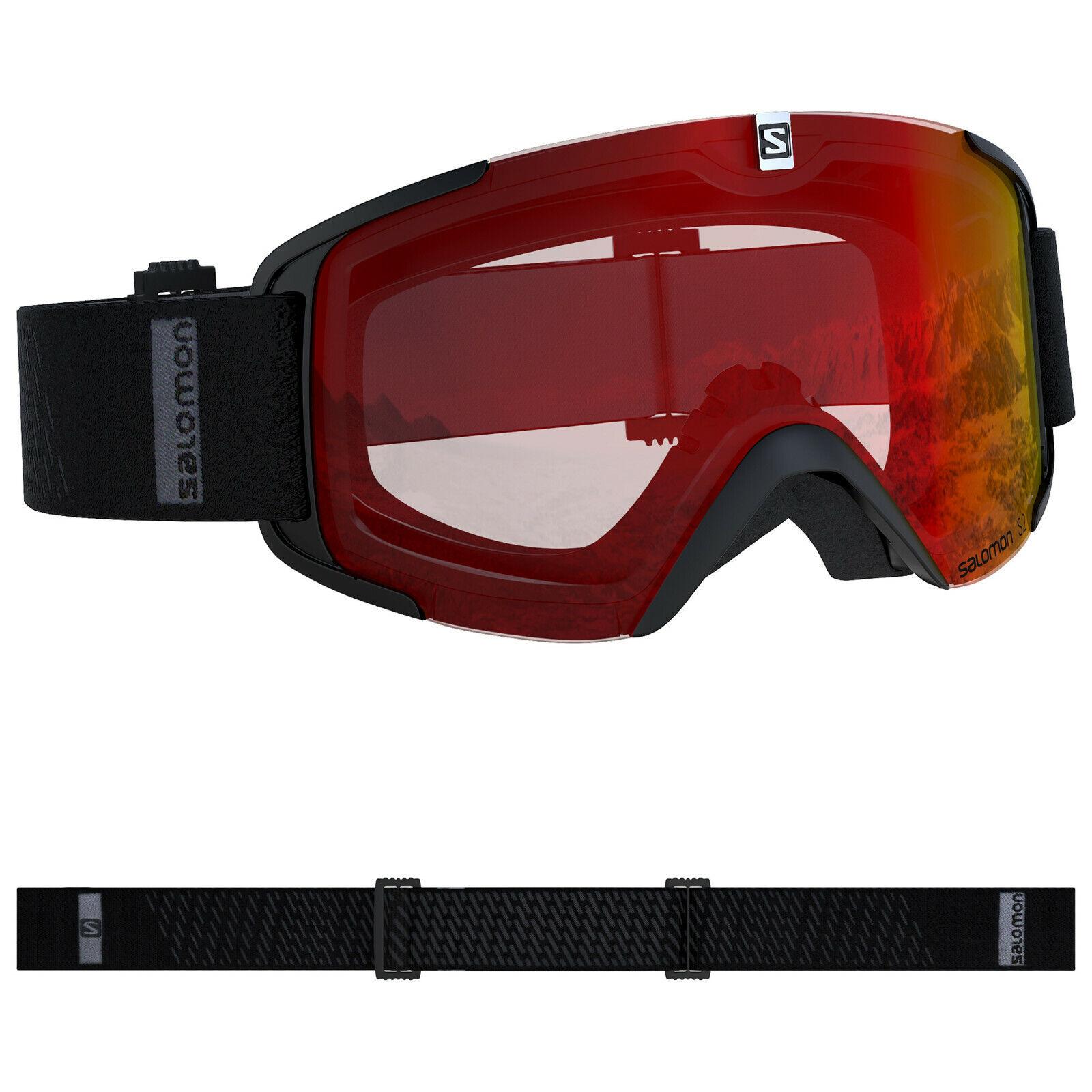 SALOMON XVIEW Skibrille Snowboardbrille (schwarz-mid-rot) Collection 2020 NEU